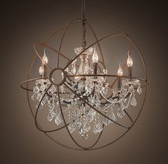 beautiful mix of contemporary & traditional in this light fixture by Restoration Hardware