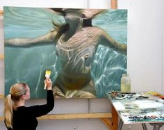 Reisha Perlmutter, Artist Water Art, Hyperrealism, Artist, Painting, Fictional Characters, Painting Art, Paintings, Fantasy Characters, Amen