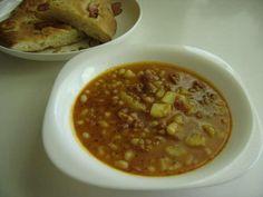 Fazuľový guláš Chana Masala, Soup, Ethnic Recipes, Bending, Red Peppers, Soups