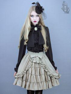 Brocade chiffon blouse - onyx (black)