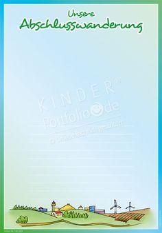 """Kindergarten Portfolio Vorlagen """"Unsere Abschlusswanderung"""""""
