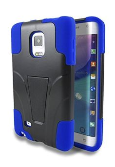For Samsung Galaxy Note Edge - NageBee Hybrid Kickstand Case with Silicone Armor Skin. #GalaxyNoteEdge #NageBee