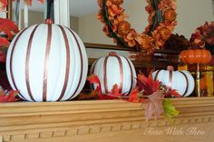 How to Turn Plain Plastic Pumpkins Into Gorgeous Fall Indoor Décor