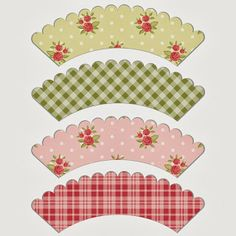 Free Shabby Chic Style Cupcake Wrapper Printables