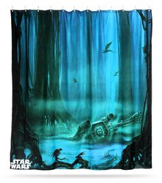 Star Wars Dagobah Shower Curtain #StarWars #StarWars