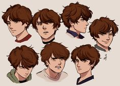 """ceejles: """"please have seven heads of my oc, Ronin. Character Drawing, Character Illustration, Character Concept, Cute Art Styles, Cartoon Art Styles, Art Drawings Sketches, Cute Drawings, Drawing Reference Poses, Hair Reference"""