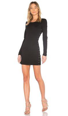 83c6d1305e7 Shop for Bobi BLACK Matte Knit Lace Up Dress in Black at REVOLVE. Free 2