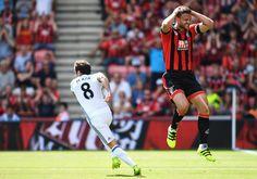 Juan Mata wheels away after scoring @manutd's first Premier League goal of 2016/17 against Bournemouth.