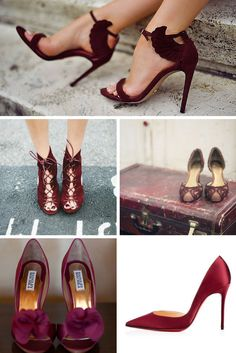 Wedding shoes, Pantone color of the year, Marsala   AnnaBelle Events