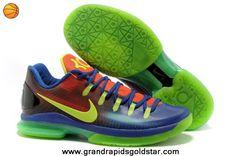 Blue to Red Gradient Volt EYBL 585386-082 Nike KD V Elite