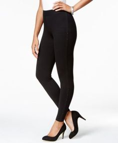 Style & Co. Stud-Detail Leggings with Comfort Waist, Only at Macy's