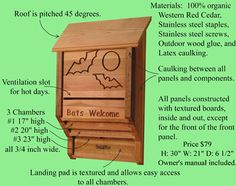 The Perfect Insecticide - a bat house!  I need about 10 of these around this house
