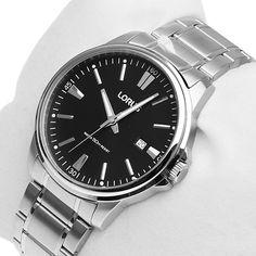 Round Black Dial Men's Stainless Steel watch