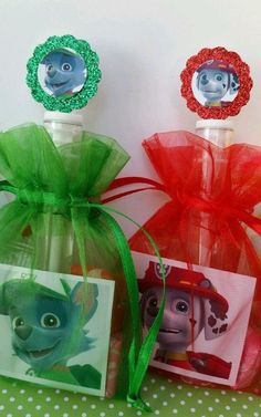 12 Paw Patrol Birthday Party Favor Bags Organza by ThePartyDaddy: