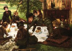 James Jacques Joseph Tissot >> huile sur panneau >> Enfants Parti