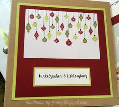 Handmade by Fanny Stampin Up, Blog, Memories, Frame, Handmade, Decor, Paper, Stamps, Cards