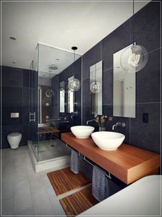 Bathroom some ideas, bathroom renovation, bathroom decor and master bathroom organization! Bathrooms may be beautiful too! From claw-foot tubs to shiny fixtures, these are the master bathroom that inspire me probably the most. Modern Master Bathroom, Minimalist Bathroom, Modern Bathroom Design, Contemporary Bathrooms, Bathroom Interior Design, Bathroom Designs, Bathroom Ideas, Bathroom Organization, Bathroom Vanities