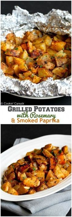 Grilled Potatoes with Rosemary and Smoked Paprika...The ultimate summertime side dish! 99 calories and 3 Weight Watchers PP  #vegan