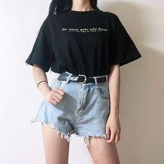 Love these casual teen fashion Mode Ulzzang, Korean Fashion Ulzzang, Korean Girl Fashion, Korean Fashion Trends, Summer Fashion Trends, Korea Fashion, Ulzzang Fashion Summer, Korean Fashion Summer Casual, Korea Summer Fashion
