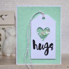 Hugs Mini Shaker   Lucy's Cards   Bloglovin'