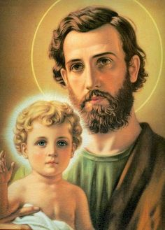 St. Joseph and the Christ Child san José ilumina a los papás que trabajen y Sean responsables, un milagro te pido
