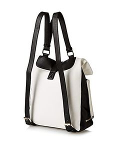 Kenneth Cole Reaction Women's Foldover Backpack (Chalk)