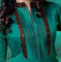 Latest Salwar Kameez Neck Designs For Ladies - Stylespk Salwar Kameez Neck Designs, Kurta Neck Design, Salwar Designs, Kurta Designs Women, Salwar Pattern, Kurta Patterns, Dress Patterns, Neckline Designs, Dress Neck Designs