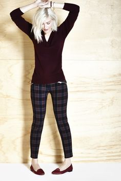 apparently plaid pants ARE a thing. I don't think I could wear them, but if I could, I would wear this outfit.