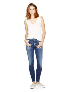 CITIZENS OF HUMANITY ROCKET BYRON BAY - An ultra flattering high-rise jean with a modern, ankle-grazing length