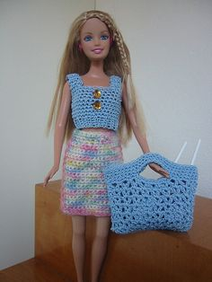 Barbie Crochet Tote & Top | www.ravelry.com/projects/GFTC/me… | Flickr