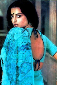 Rekha in blue