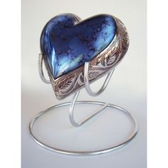 Blue Heart Pet Urn