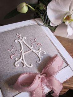 Elizabeth Hand Embroidery: A melancholy journey to Adele - embroidered framed art
