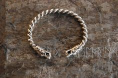 Bracelet From Gotland | eBay Bracelet made on the basis of an archeological find on Gotlad Island (Sweden). Made of silver-plated bronze and copper (thick silver coating). The size of each bracelet can be adjusted.