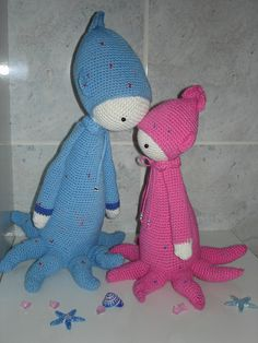 OLEG the octopus made by lyloula3l / crochet pattern by lalylala