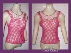 TO GO Tank Top Crochet Pattern by Cindy by crochetbayboutique