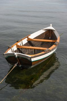 Wooden boat on water