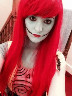 Nightmare Before Christmas Sally face paint make up for my Halloween costume!