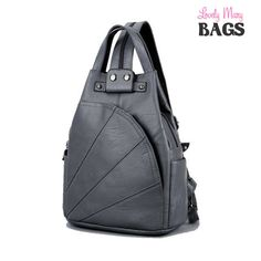 94040f41f616 Leather Backpack bag with Arcuate Shoulder Strap