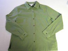 Womens Shirt Jacket L Large Dress Barn Green CLEARANCE SALE #DressBarn #Jacket