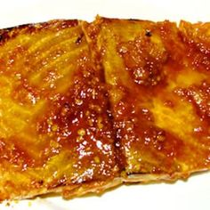Sweet 'n' Hot Glazed Salmon (Made a version of this tonight.. with what I had available in the kitchen.. red chili powder, orange marmalade, maggi's, balsamic vinegar, garlic)... broiled the salmon and popped it on top of a big salad.