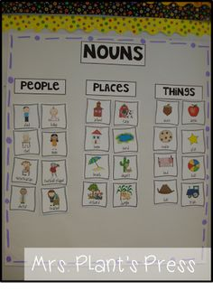 Noun freebie; follow to Rowdy in room 300 link for noun freebie, book idea & song