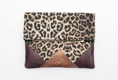 LEOPARD 5 / Cotton fabric & natural leather by DDSLLGirlsStore