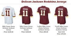 DeSean Jackson Redskins jersey