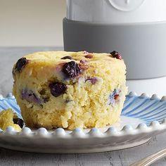 Blueberry Lemon Microwave Muffin using Pampered Chef Micro Ceramic Egg Cooker Mug Recipes, Muffin Recipes, Brunch Recipes, Yummy Recipes, Breakfast Recipes, Yummy Food, Pampered Chef Egg Cooker, Pampered Chef Recipes, Dessert