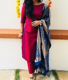 salwar designs for stitching / salwar designs . salwar designs for stitching . Silk Kurti Designs, Churidar Designs, Kurta Designs Women, Kurti Designs Party Wear, Red Kurti Design, Latest Kurti Designs, Blouse Designs, Plain Kurti Designs, Kurtha Designs
