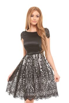 StarShinerS Precious Moments Black Dress, inside lining, back zipper fastening, sleeveless, nonelastic fabric, lace and sequins details The Most Beautiful Girl, Precious Moments, Dress Backs, Dress For You, Daily Wear, Clothing Items, Dress Skirt, Your Style, Party Dress