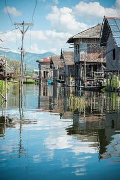Home above the lake . Myanmar