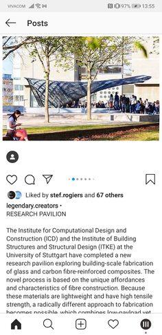 Building Systems, Pavilion, University, Construction, Explore, Design, Stuttgart, Building