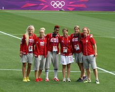 Women's Olympic Football Tournament 25 July 2012 - Kaylyn Kyle, Kelly Parker, Karina LeBlanc, Chelsea Stewart, Emily Zurrer and Carmelina Moscato